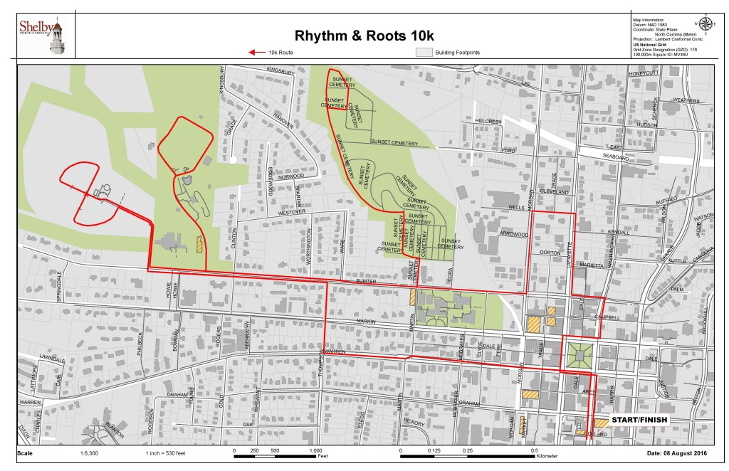 Rhythm and Roots 10k 2016 Route (2)