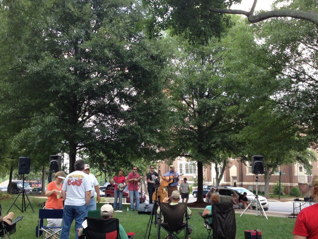 Oak Grove String Band kicks things off for the June 26, 2014 Earl Scruggs Center's Pickin' on the Square.
